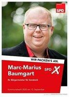 Wahlplakat Marc-Marius Baumgart
